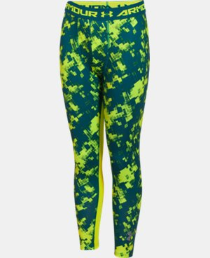 Boys' UA HeatGear® Armour Printed Fitted Leggings LIMITED TIME: FREE U.S. SHIPPING 1 Color $22.49 to $29.99