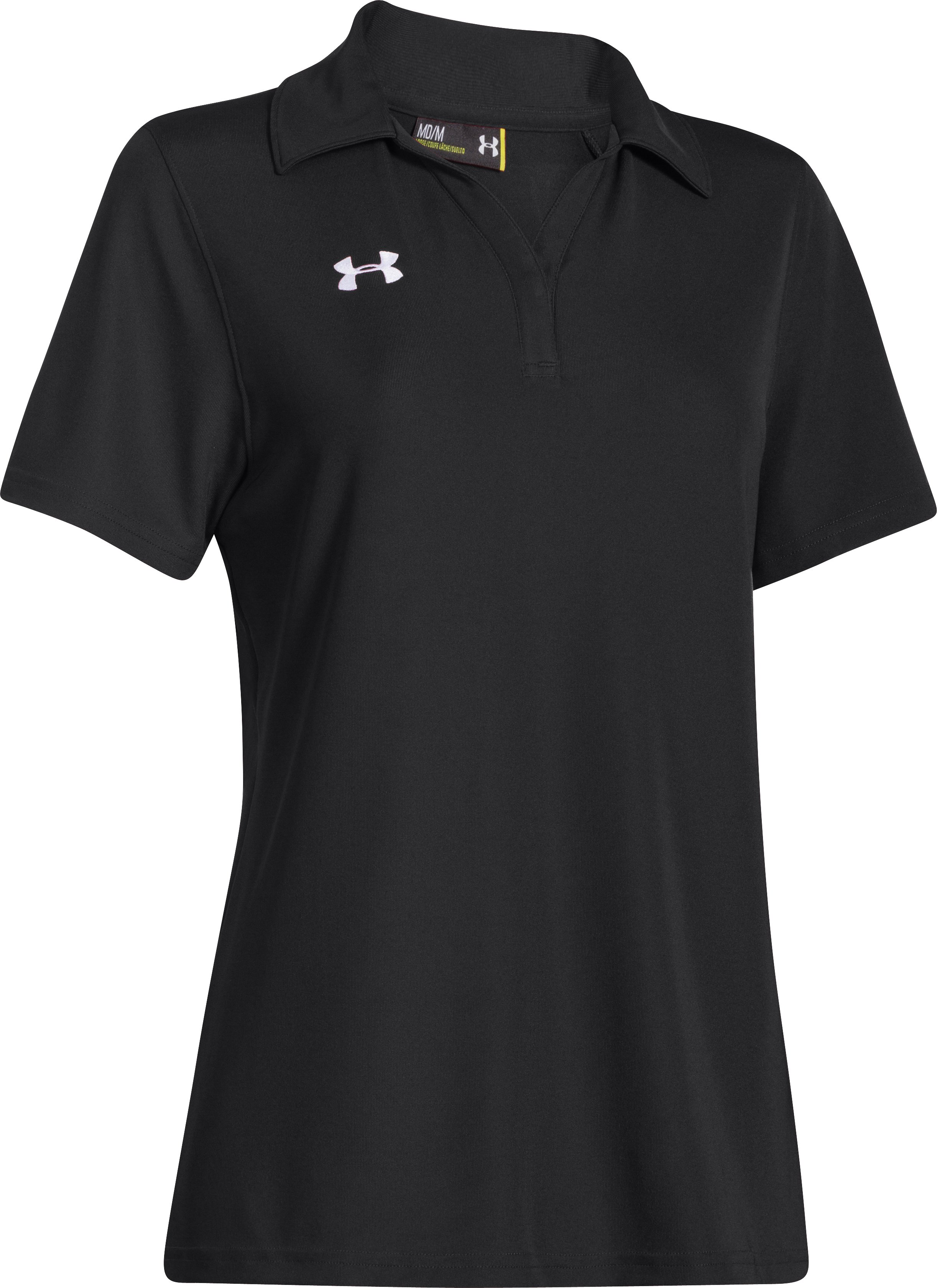 Women's UA Performance Polo, Black ,