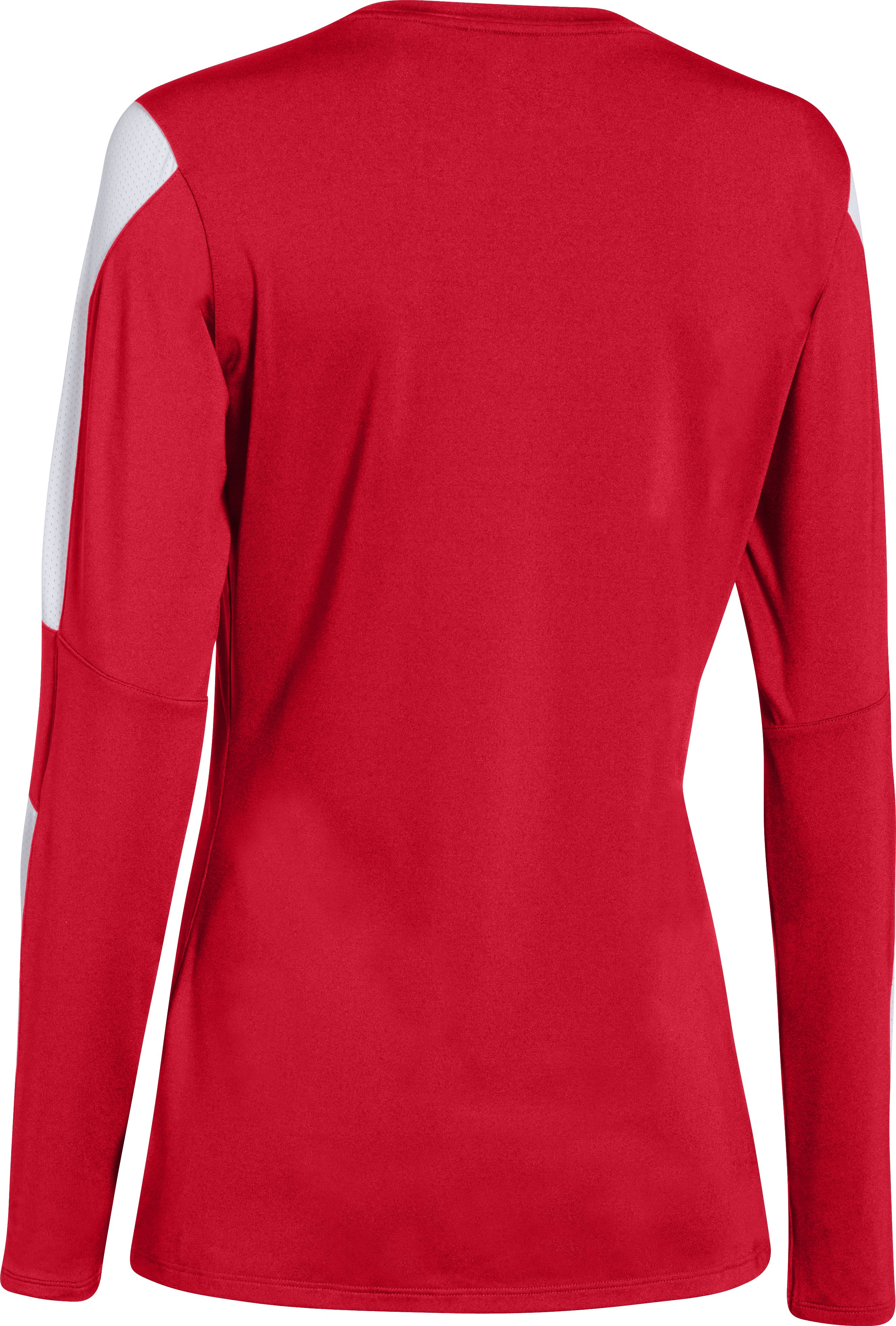 Women's UA Block Party Long Sleeve Jersey, Red, undefined