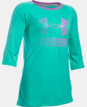 Girls' UA Sunblock 50+ ¾ Sleeve  3 Colors $20.99