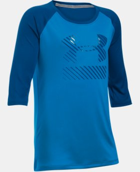 Girls' UA Sunblock 50+ ¾ Sleeve  1 Color $20.99
