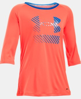 Girls' UA Sunblock 50+ ¾ Sleeve