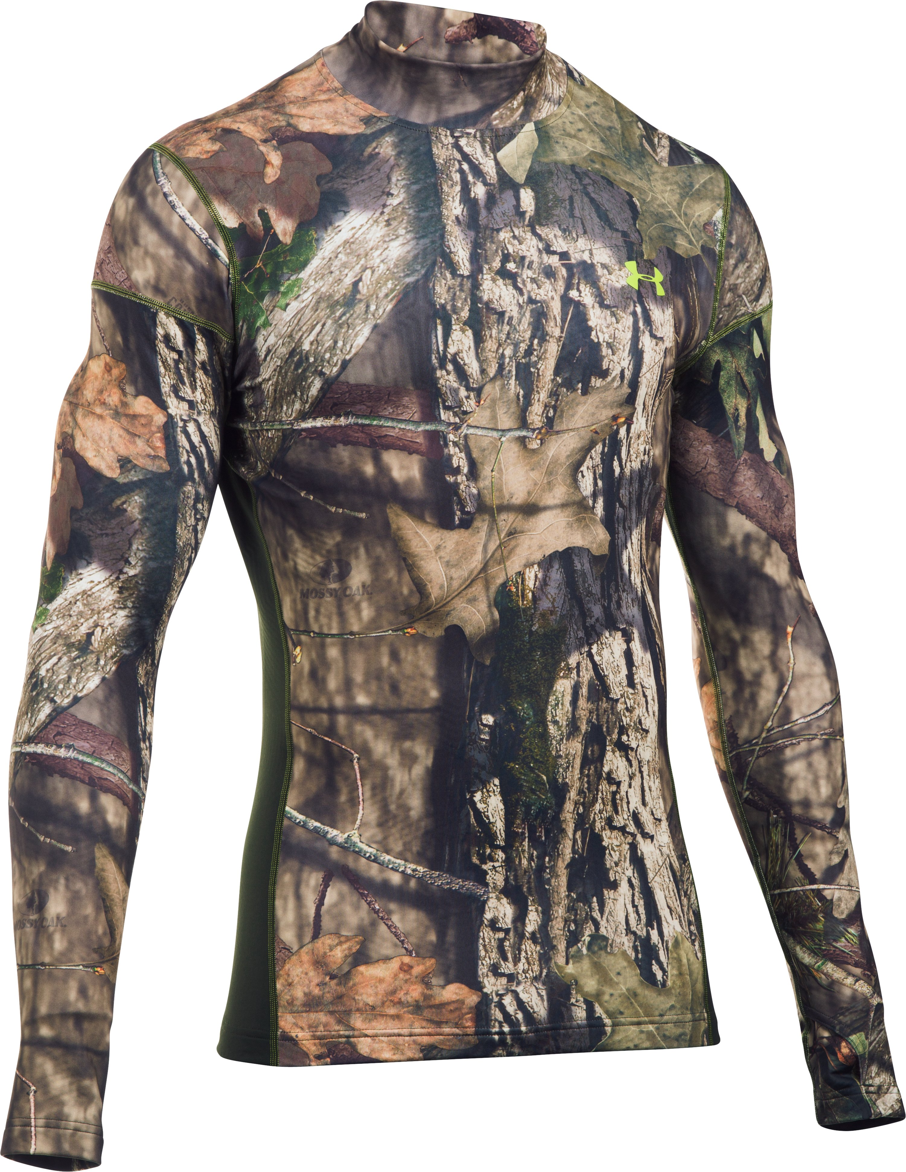 Men's UA ColdGear® Armour Scent Control Mock, MOSSY OAK OPEN COUNTRY, zoomed image