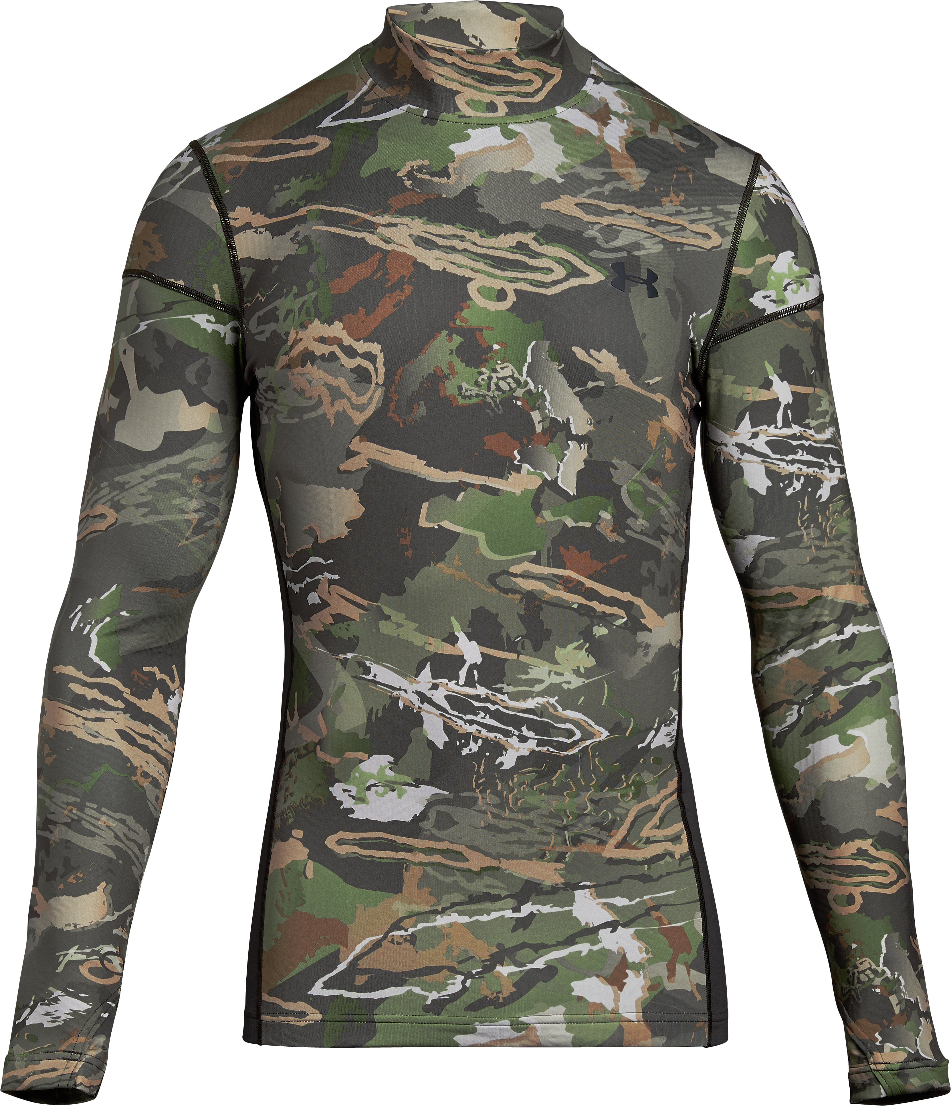 Men's UA ColdGear® Armour Scent Control Mock, RIDGE REAPER® FOREST