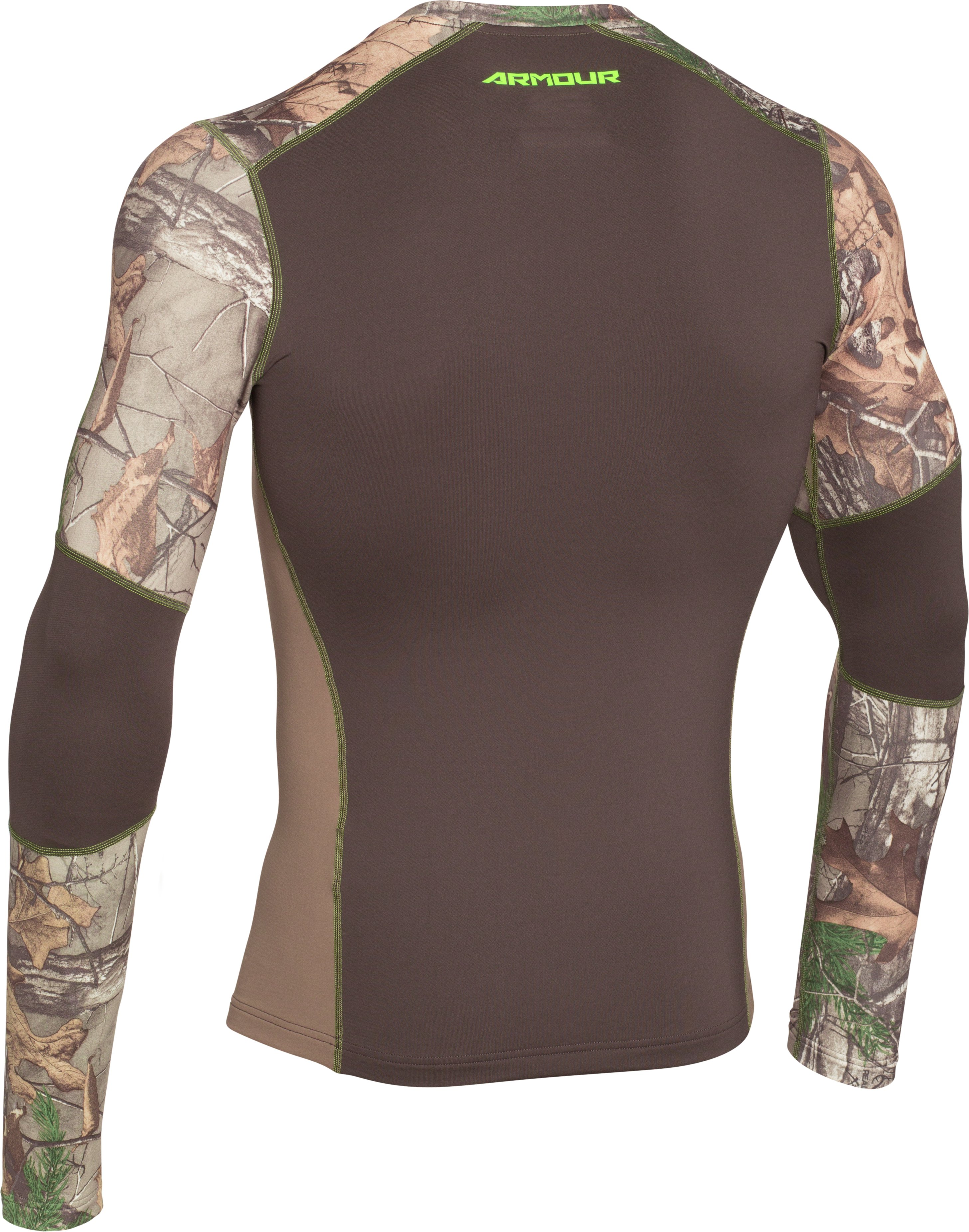 Men's UA ColdGear® Armour Scent Control Crew, REALTREE AP-XTRA, undefined