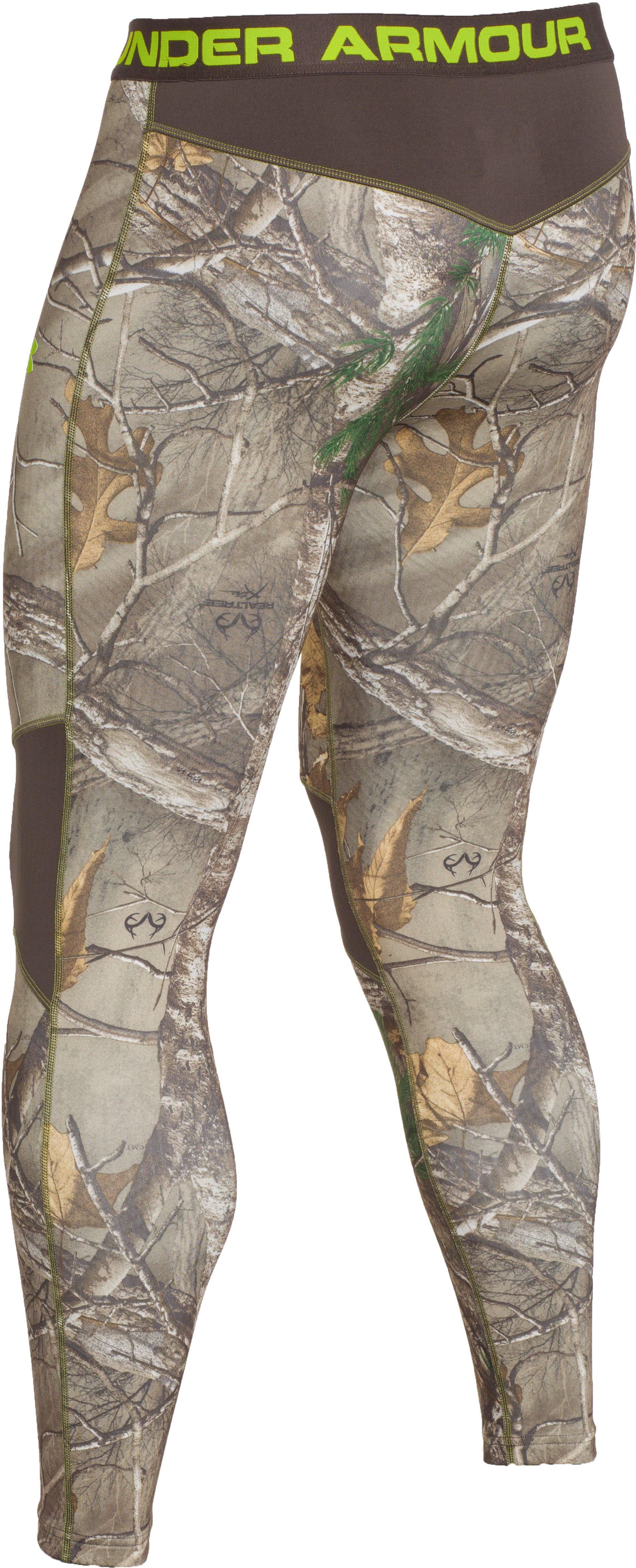 Men's UA ColdGear® Armour Scent Control Leggings, REALTREE AP-XTRA, undefined