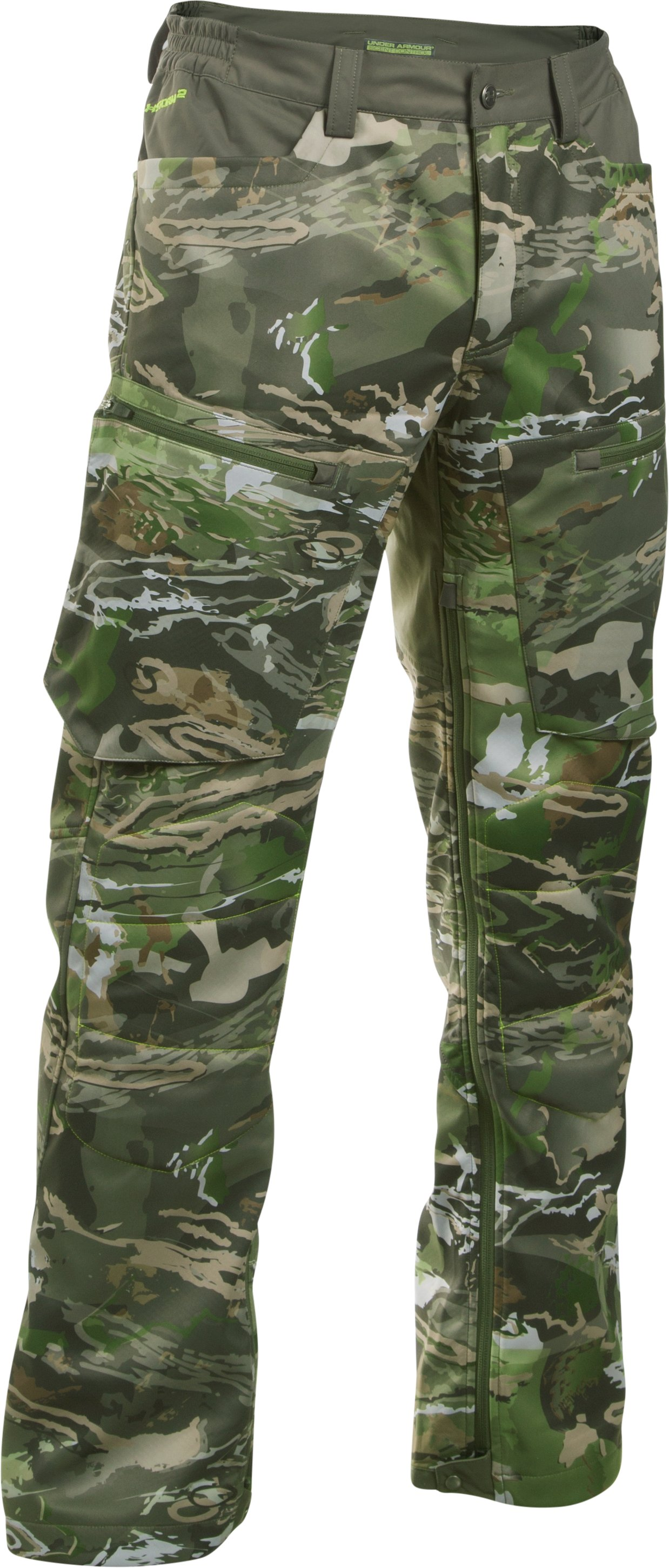 Men's UA Storm Scent Control Softershell Pants, RIDGE REAPER® FOREST
