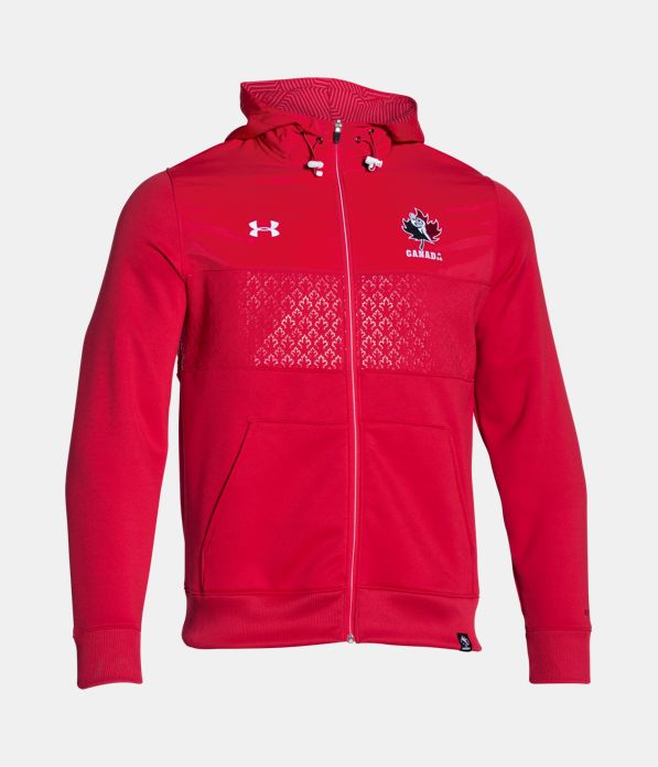 Men 39 s rugby canada ua storm coldgear infrared hoodie for Under armour shirts canada