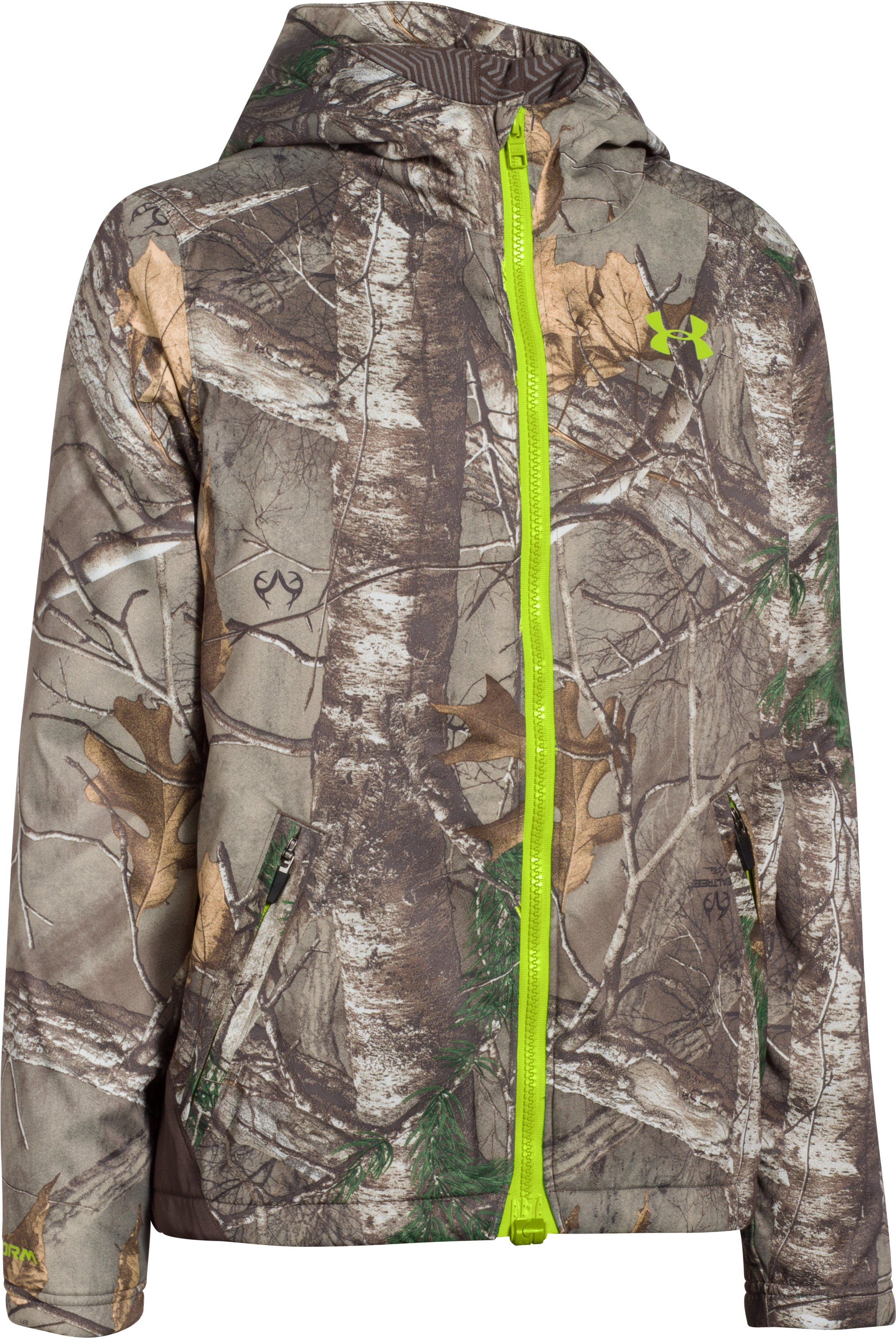 Boys' UA Storm Scent Control Barrier Jacket, REALTREE AP-XTRA, undefined