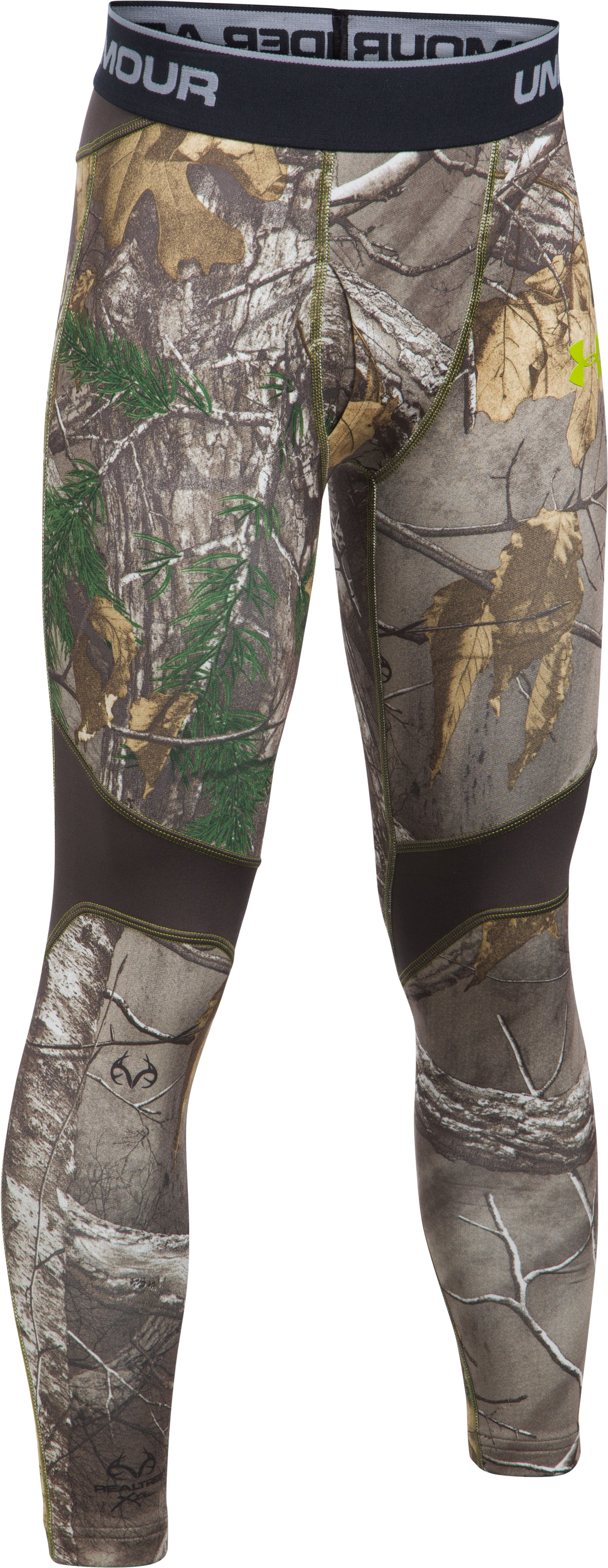 Boys' UA ColdGear® Armour Scent Control Leggings, REALTREE AP-XTRA