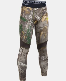 Boys' UA ColdGear® Armour Scent Control Leggings LIMITED TIME: 25% OFF 2 Colors $37.49