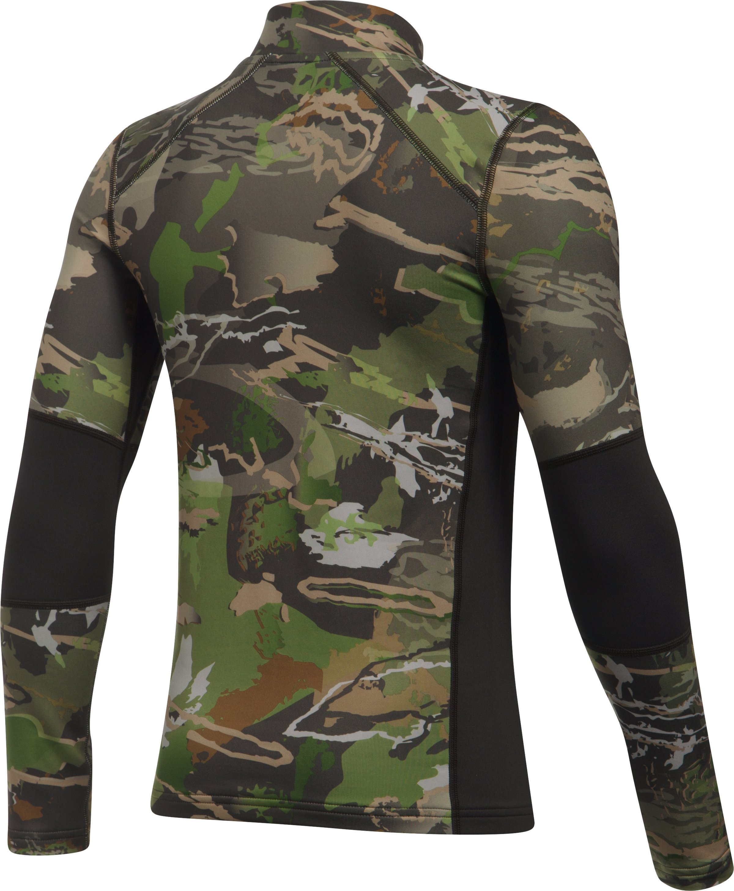 Boys' UA ColdGear® Armour Scent Control Mock, RIDGE REAPER® FOREST, undefined