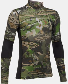 Boys' UA ColdGear® Armour Scent Control Mock  1  Color Available $37.99