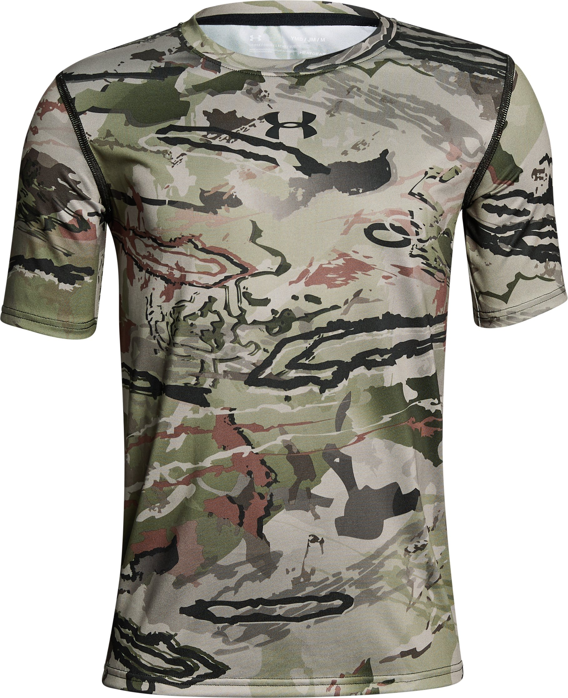 Boys' UA Scent Control Tech™ Short Sleeve, RIDGE REAPER® BARREN, undefined