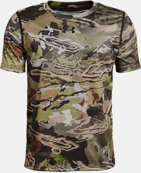 Boys' UA Scent Control Tech™ Short Sleeve  1  Color Available $34.99