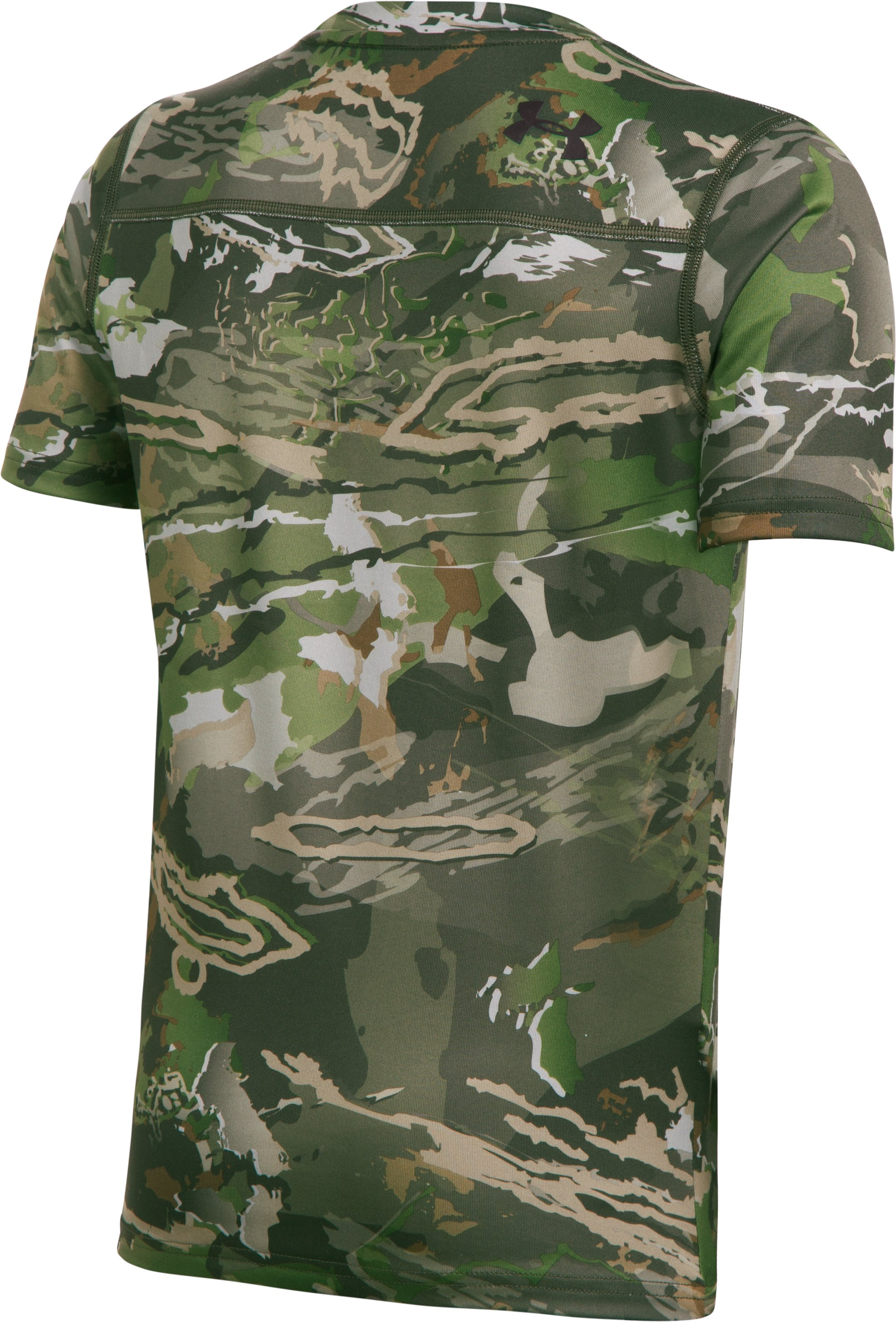 Boys' UA Scent Control Tech™ Short Sleeve, RIDGE REAPER® FOREST,