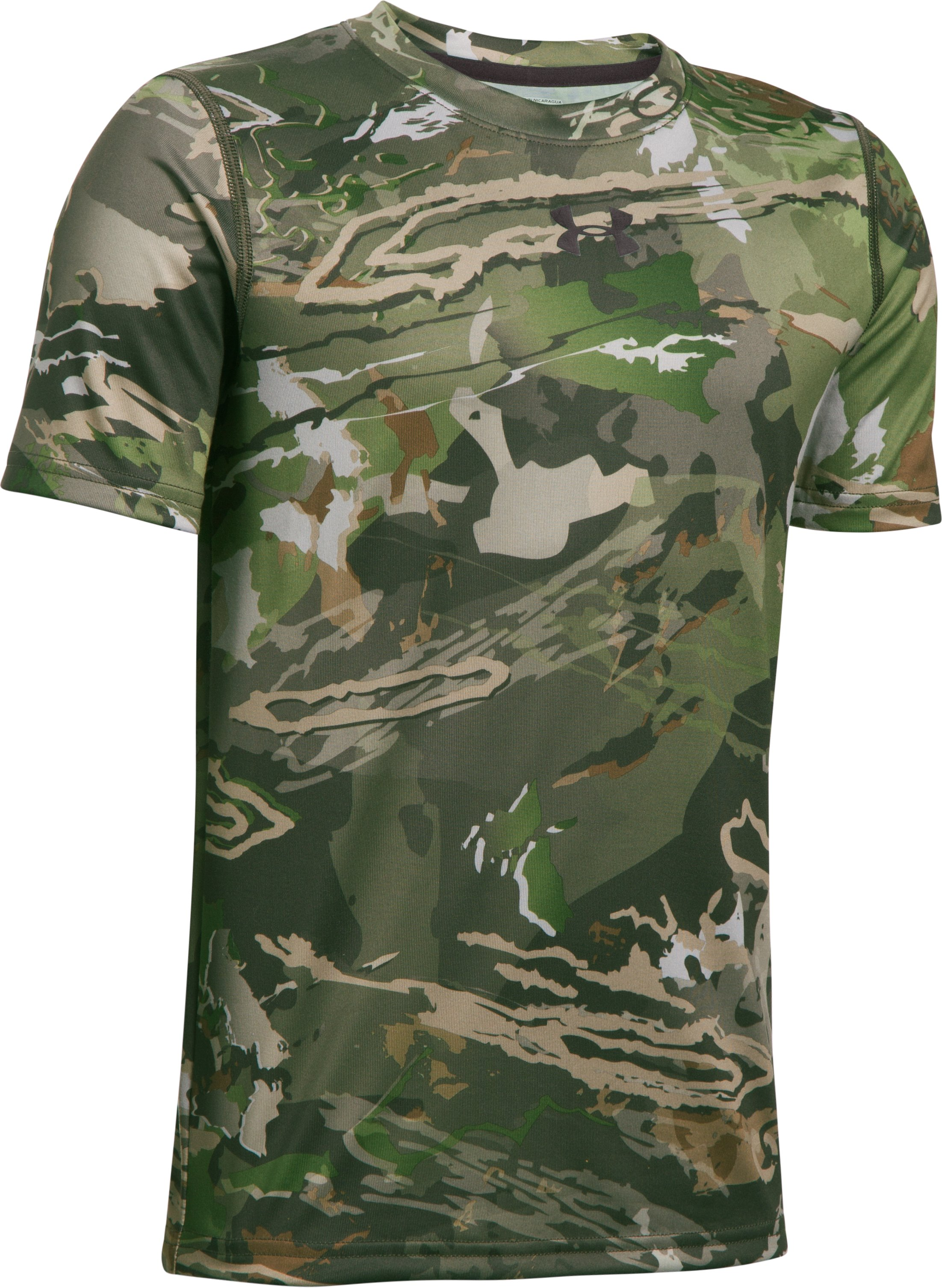Boys' UA Scent Control Tech™ Short Sleeve, RIDGE REAPER® FOREST