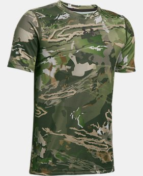 Boys' UA Scent Control Tech™ Short Sleeve LIMITED TIME OFFER 3 Colors $26.24