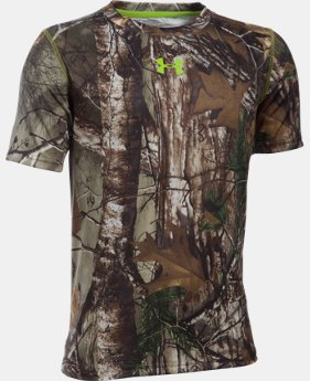 Boys' UA Scent Control Tech™ Short Sleeve   1 Color $34.99