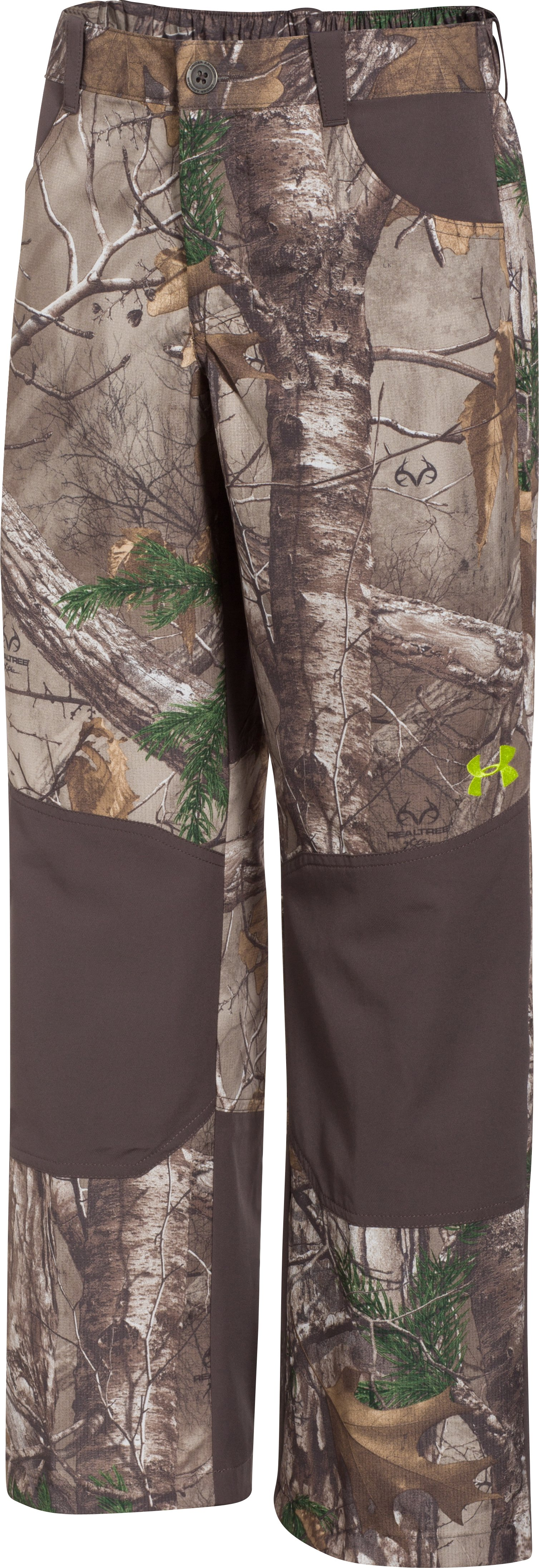 Boys' UA Storm Scent Control Field Pants, REALTREE AP-XTRA, undefined
