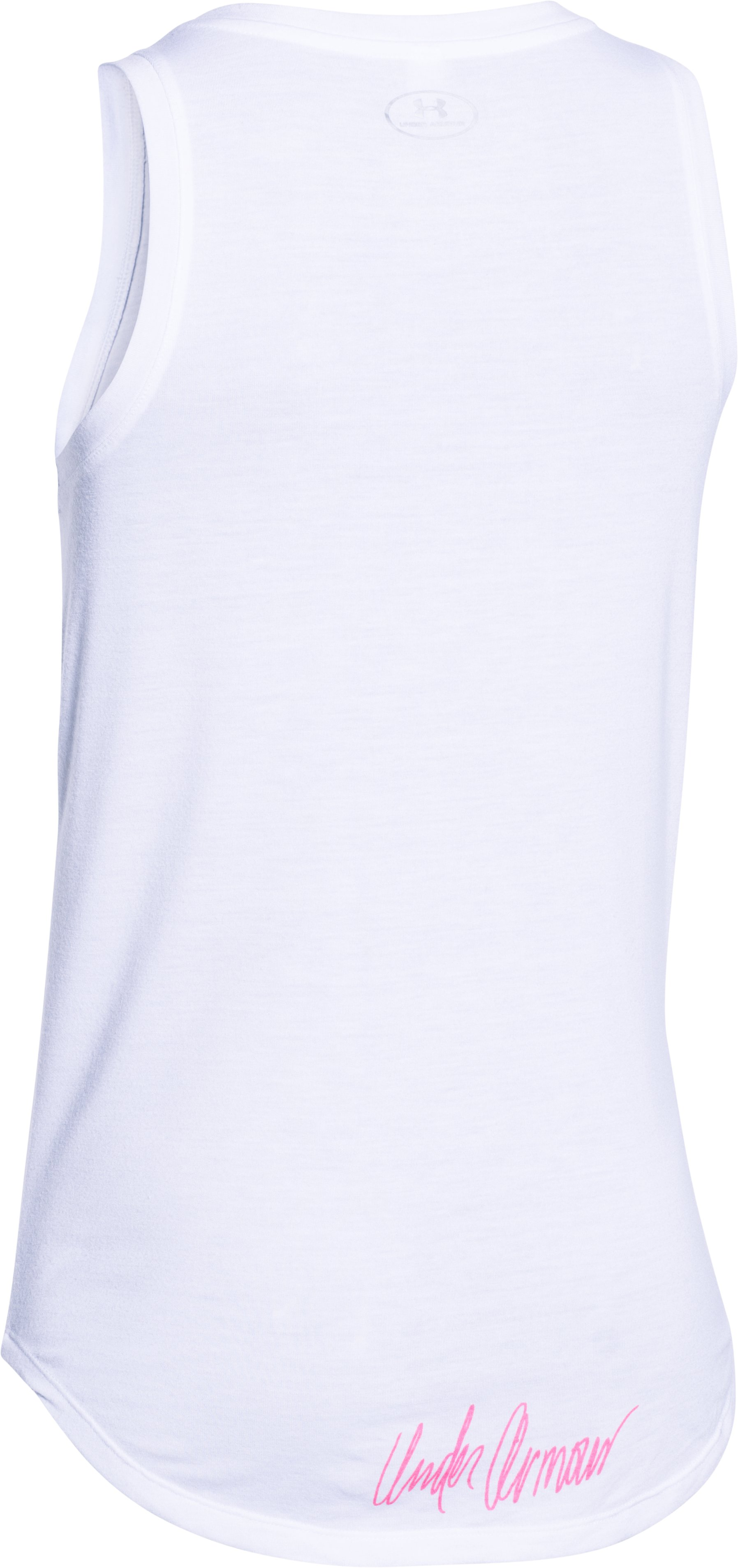 Women's UA Power In Pink® Allover Print Tank, White, undefined