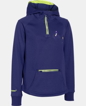 Girls' UA Storm ColdGear® Infrared Dobson ½ Zip Hoodie  1 Color $50.99