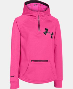 Girls' UA Storm ColdGear® Infrared Dobson ½ Zip Hoodie