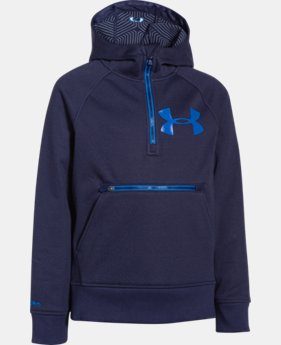 Boys' UA Storm ColdGear® Infrared Dobson ½ Zip Hoodie  1 Color $50.99