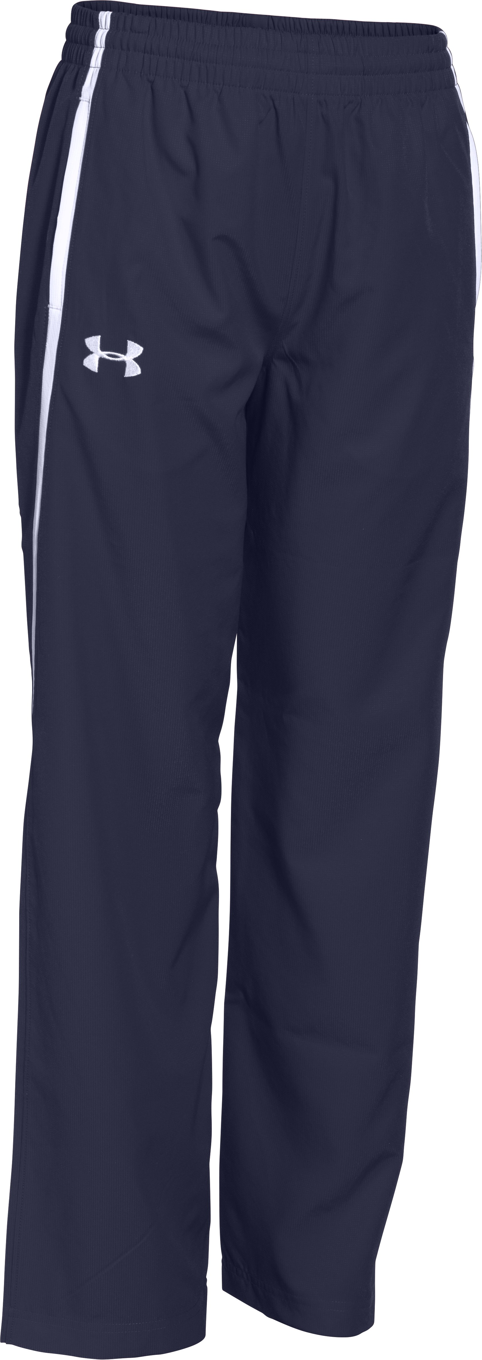 Boys' UA Essential Warm-Up Pants, Midnight Navy