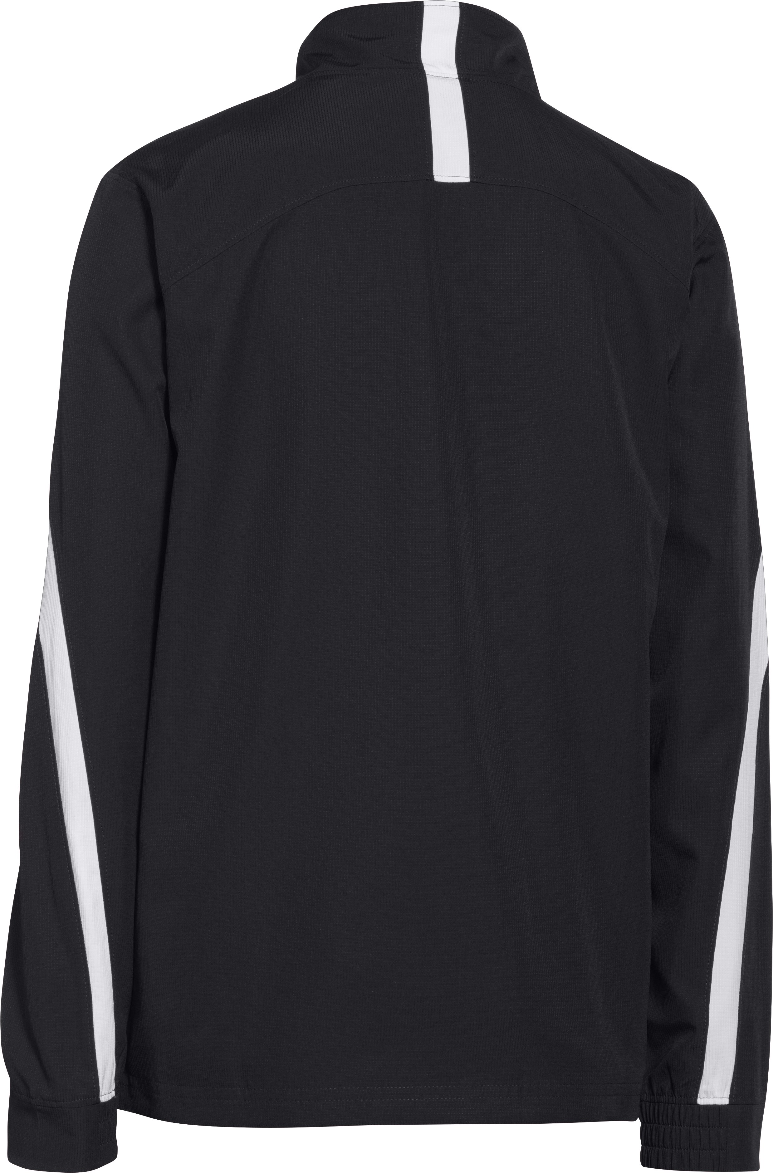 Boys' UA Essential Warm-Up Jacket, Black ,