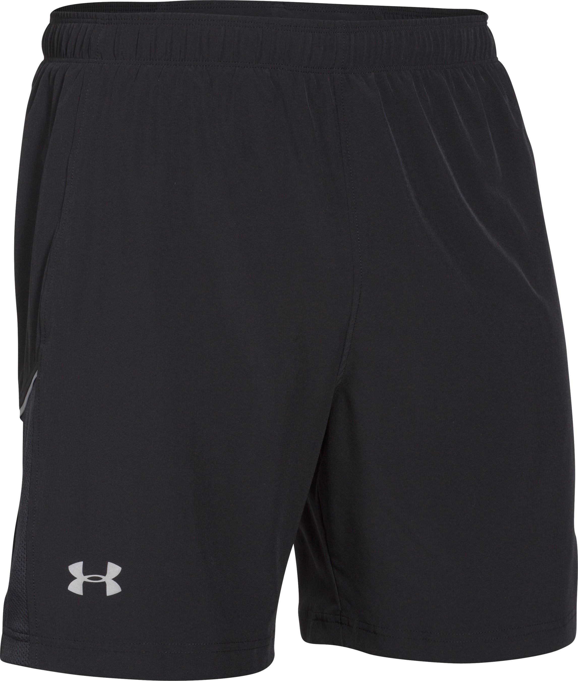 "Men's UA Launch Run Stretch-Woven 7"" Shorts, Black"