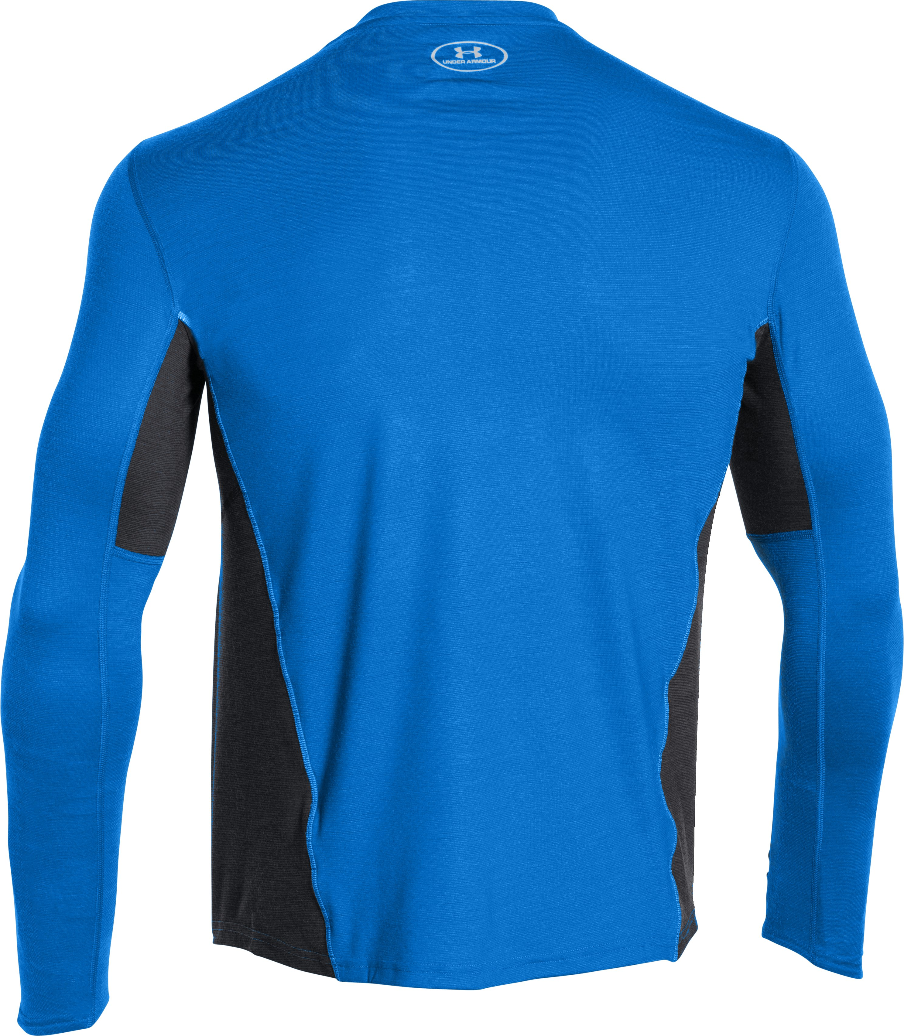 Men's UA Charged Wool Run Long Sleeve, BLUE JET, undefined