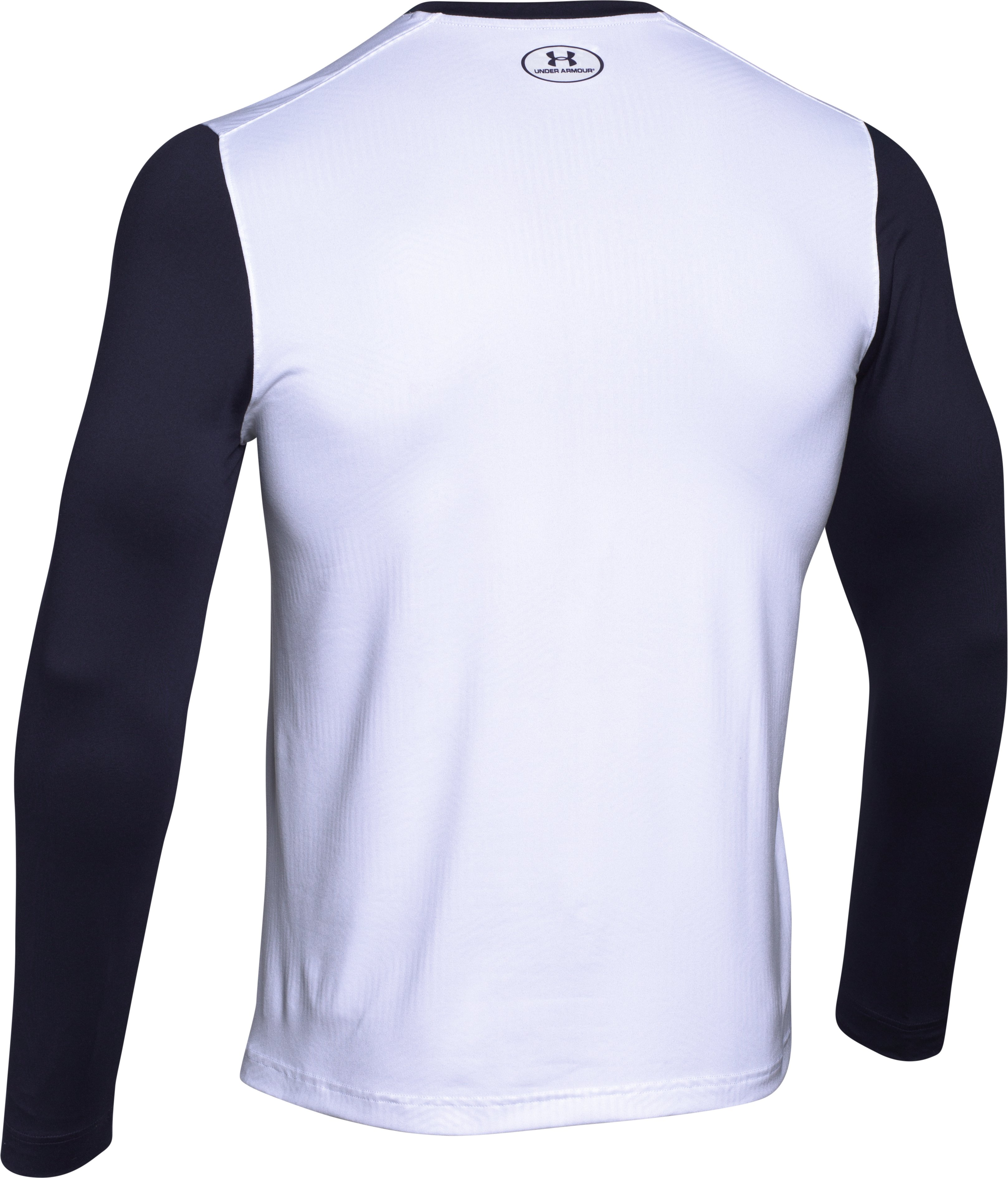 Men's UA ColdGear® Infrared Lightweight Henley, White