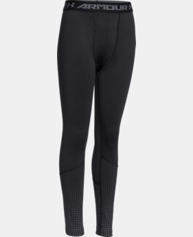 Boys' UA ColdGear® Armour Big Logo Fitted Leggings  2 Colors $26.99