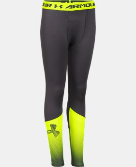 Boys' UA ColdGear® Armour Big Logo Fitted Leggings  1 Color $26.99