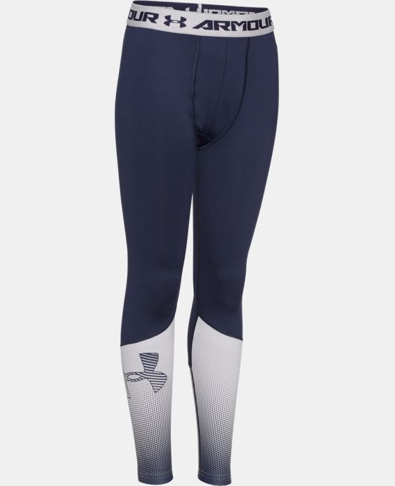 Boys' UA ColdGear® Armour Big Logo Fitted Leggings   $26.99