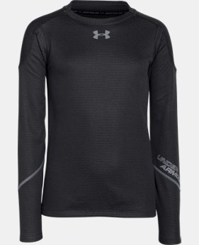 Boys' UA ColdGear® Infrared Grid Hybrid Mock  1 Color $35.99