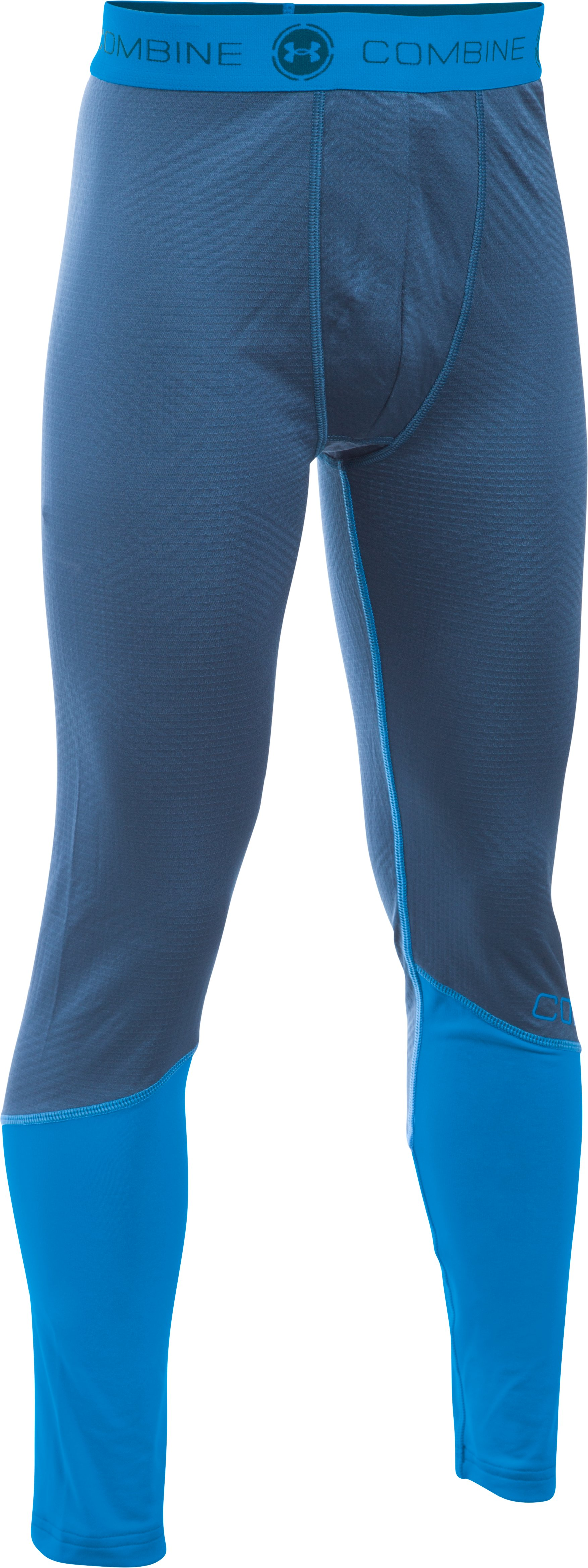 Boys' UA Combine® Training ColdGear® Infrared Fitted Leggings, PETROL BLUE,