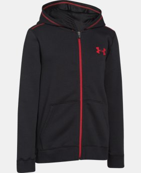Boys' UA Rival Fleece Full Zip Hoodie  2 Colors $33.99