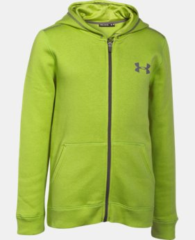 Boys' UA Rival Fleece Full Zip Hoodie   $33.99