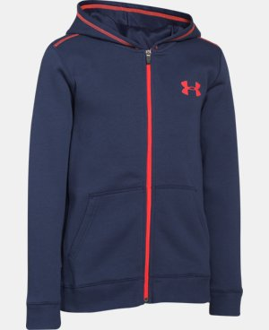Boys' UA Rival Fleece Full Zip Hoodie  1 Color $33.99