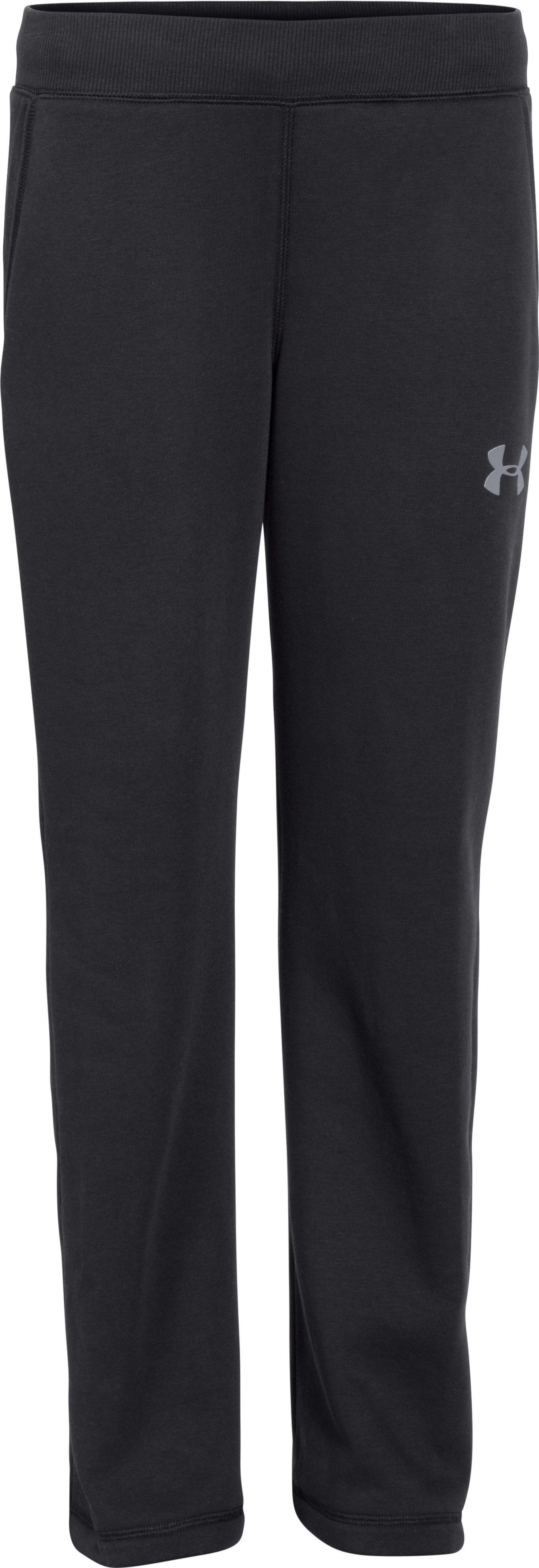 Boys' UA Rival Fleece Pants, Black , zoomed image