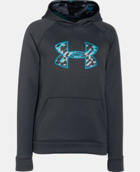 Boys' UA Storm Armour® Fleece Big Logo Hoodie  4 Colors $33.99