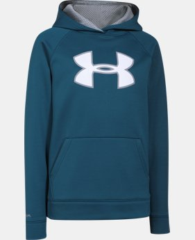 New Arrival  Boys' UA Storm Armour® Fleece Big Logo Hoodie  1 Color $41.99