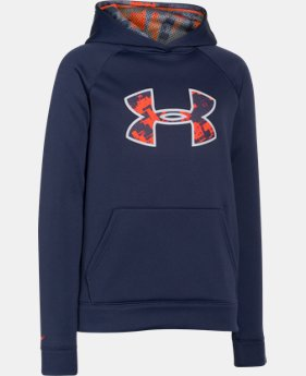 Boys' UA Storm Armour® Fleece Big Logo Hoodie  2 Colors $33.99