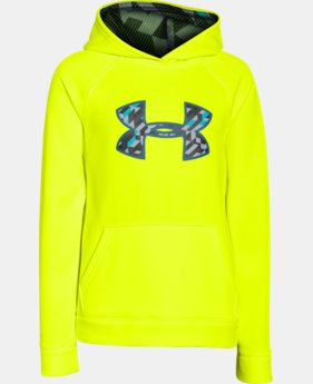 Boys' UA Storm Armour® Fleece Big Logo Hoodie  3 Colors $33.99