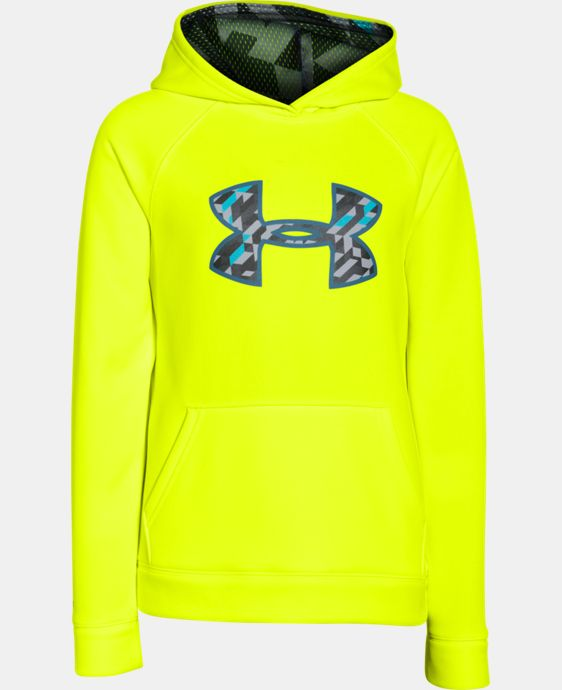 Boys' UA Storm Armour® Fleece Big Logo Hoodie  2 Colors $25.49