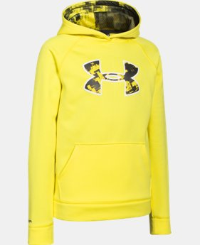 New to Outlet Boys' UA Storm Armour® Fleece Big Logo Hoodie   $33.99