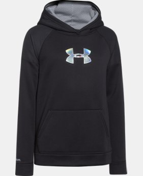 Boys' UA Storm Armour® Fleece Woven Hoodie LIMITED TIME: FREE U.S. SHIPPING  $28.49 to $37.99