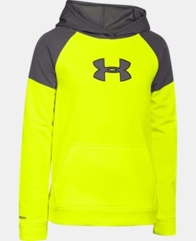 Boys' UA Storm Armour® Fleece Woven Hoodie  2 Colors $37.99